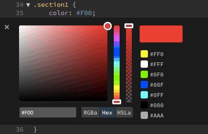Brackets - Farb Auswahl