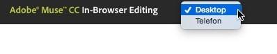 Adobe Muse - inbrowserediting - wechsel der Device Größen