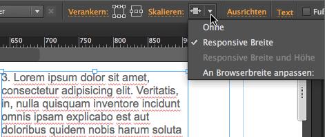 Adobe Muse Responsive - skalieren responsive Breite