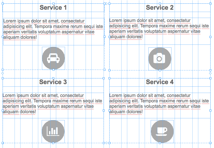 Adobe Muse Responsive - Service Anordnung neu