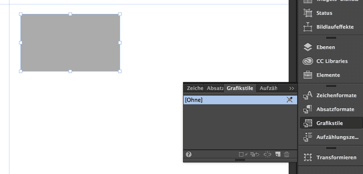 Grafikstile in Adobe Muse