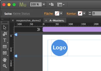 Muse - Musterseiten - Inhalt (Logo) einfügen