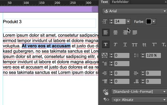 Muse - Text bearbeiten