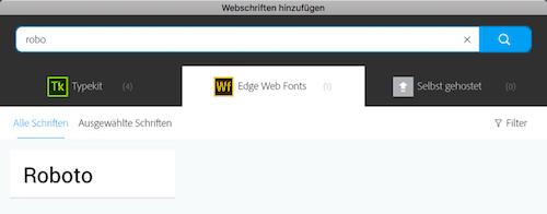 Muse - Webfont Schriftsuche