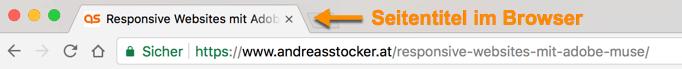 Seitentitel im Browser