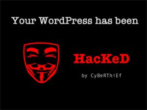 Beispiel eines Screens einer gehackten WordPress Seite - WordPress absichern.