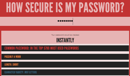 WordPress absichern durch prüfen der Sicherheit eines Passwortes mit How Secure Is My Password