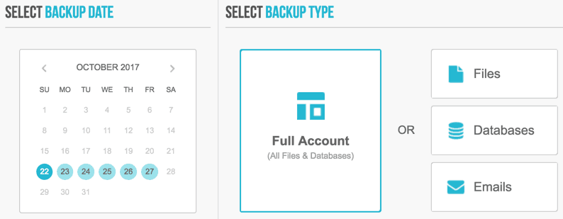 Backups zurückspielen bei SiteGround
