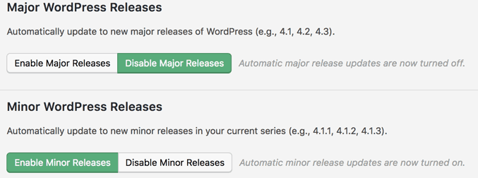 "WordPress Updates einstellen mit dem Plugin ""Easy Update Manager"""