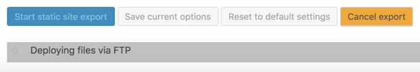 Statische WordPress Seite Export Step 2