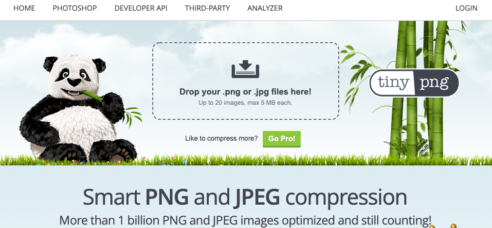 Website Tipp: Bilder mit TinyPNG optimieren - Upload