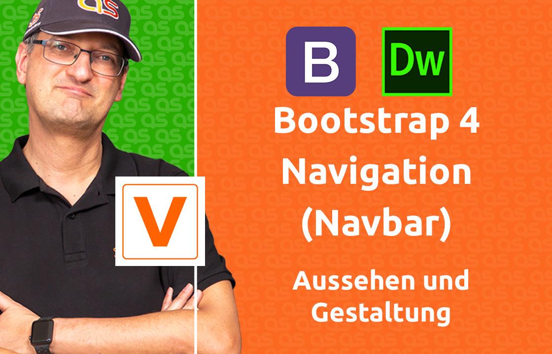 VIDEO - Bootstrap 4 Navigation (Navbar) Aussehen und Gestaltung
