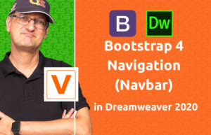 VIDEO - Bootstrap 4 Navigation (Navbar) in Dreamweaver 2020