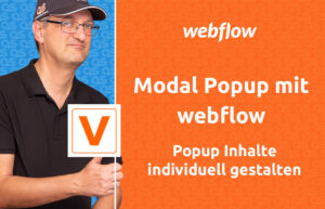 VIDEO webflow modal popup